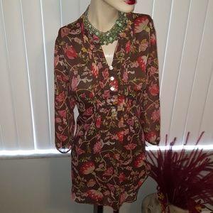 Liz Claiborne...floral blouse